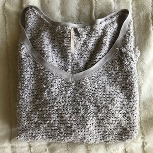 Free people shaggy knit sweater